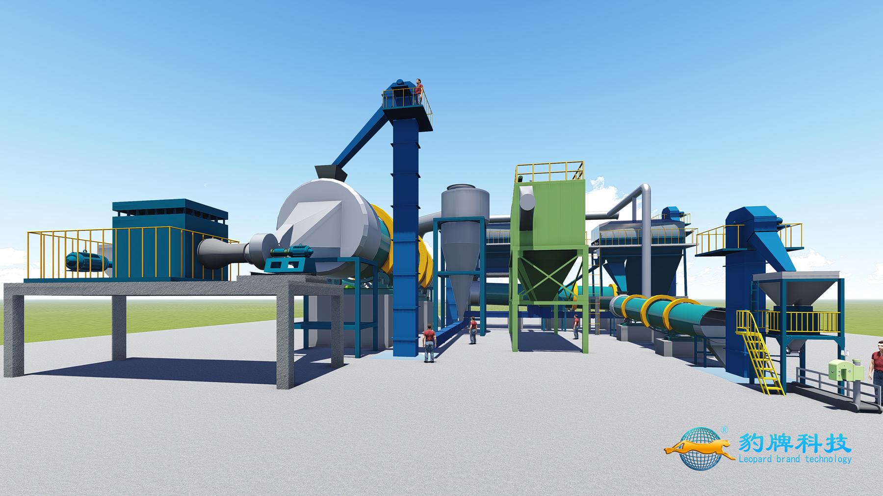 豹牌年产十万吨磷酸一铵喷浆造粒生产线